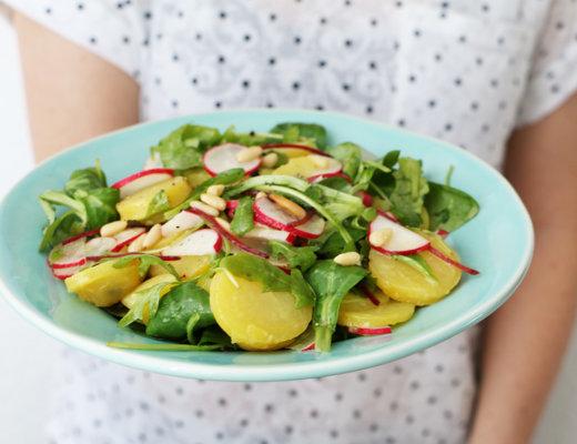 Peilkartoffelsalat mit Radieschen